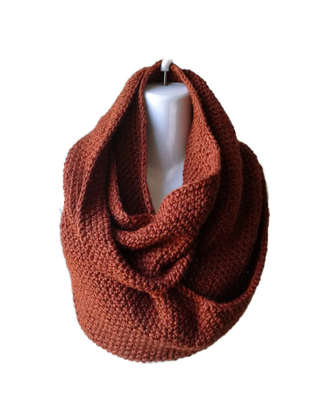 sienna brown infinity scarf