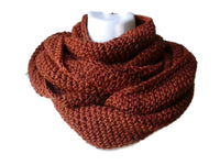 sienna brown circle scarf