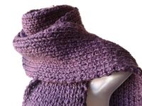 purple knit scarf