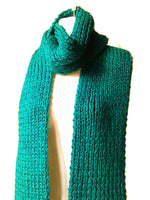 emerald green knit scarf winter