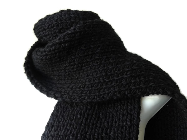 Black Knit Winter Scarf
