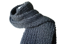 Charcoal Grey Knit Scarf