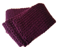 Merino Wool Knit Scarf Purple