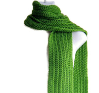 Lime Light Green Winter Scarf - Smitten Kitten Originals Knits - 3