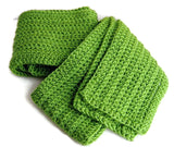 Lime Light Green Winter Scarf - Smitten Kitten Originals Knits - 5
