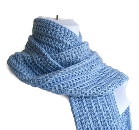 Sky Blue Scarf - Smitten Kitten Originals Knits - 1