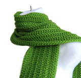 Lime Light Green Winter Scarf - Smitten Kitten Originals Knits - 2