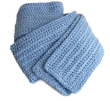 Sky Blue Scarf - Smitten Kitten Originals Knits - 5