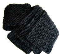 Solid Black Scarf Basic Black - Smitten Kitten Originals Knits - 4
