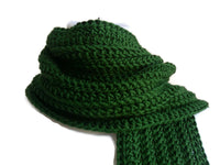 Dark Green Winter Scarf - Smitten Kitten Originals Knits - 3