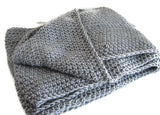 Grey Scrolling Infinity Scarf Cowl Made to Order - Smitten Kitten Originals Knits - 5