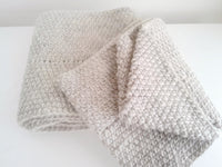 Oatmeal Pure Wool Infinity Scarf - Smitten Kitten Originals Knits - 5