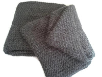 Charcoal Grey Pure Alpaca Infinity Scarf - Smitten Kitten Originals Knits - 5