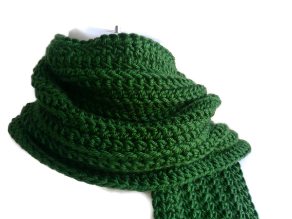 Dark Green Winter Scarf - Smitten Kitten Originals Knits - 1