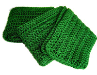 Dark Green Winter Scarf - Smitten Kitten Originals Knits - 5