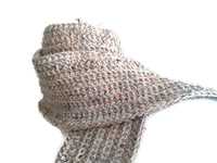 Rustic Natural Oatmeal Pure Wool Scarf - Smitten Kitten Originals Knits - 1