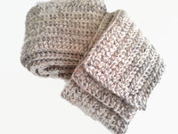 Rustic Natural Oatmeal Pure Wool Scarf - Smitten Kitten Originals Knits - 5