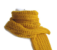 Pure Wool Mustard Yellow Scarf - Smitten Kitten Originals Knits - 3