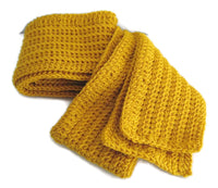 Pure Wool Mustard Yellow Scarf - Smitten Kitten Originals Knits - 5
