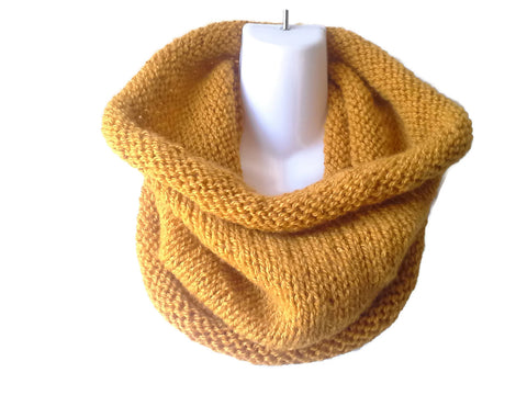 Big Knit Cowl Golden Yellow - Smitten Kitten Originals Knits - 1