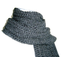 Charcoal Grey Wool Scarf - Smitten Kitten Originals Knits - 4