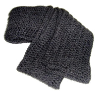 Charcoal Grey Wool Scarf - Smitten Kitten Originals Knits - 5