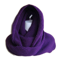 Eggplant Purple Infinity Scarf Made to Order - Smitten Kitten Originals Knits - 2