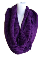 Eggplant Purple Infinity Scarf Made to Order - Smitten Kitten Originals Knits - 4