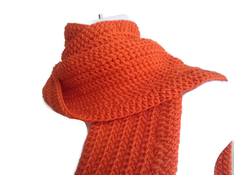 Orange Pure Wool Scarf - Smitten Kitten Originals Knits - 1