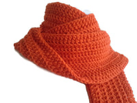 Orange Pure Wool Scarf - Smitten Kitten Originals Knits - 2