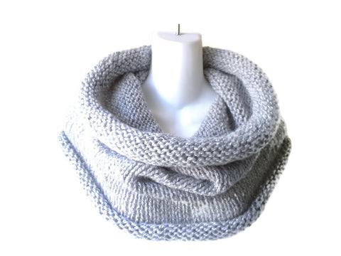 Big Knit Cowl Pale Grey - Smitten Kitten Originals Knits - 1