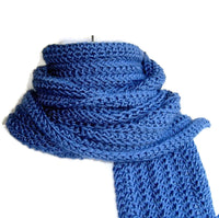Dusky Denim Blue Scarf - Smitten Kitten Originals Knits - 3