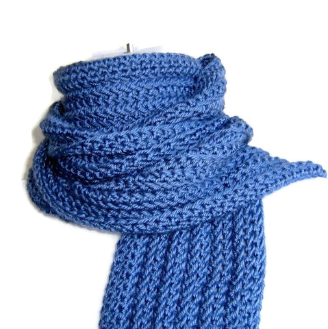 Dusky Denim Blue Scarf - Smitten Kitten Originals Knits - 1