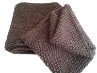 Dark Walnut Brown Pure Wool Infinity Scarf - Smitten Kitten Originals Knits - 5