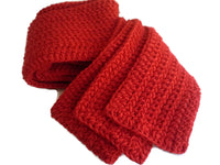 Pure Wool Solid Red Scarf - Smitten Kitten Originals Knits - 4