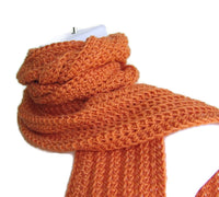 Orange Crochet Winter Scarf - Smitten Kitten Originals Knits - 2