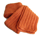 Orange Crochet Winter Scarf - Smitten Kitten Originals Knits - 5