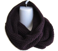 Eggplant Purple Cowl Gaiter Neckwarmer - Smitten Kitten Originals Knits - 1
