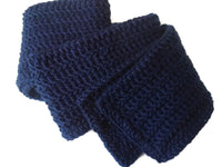 Navy Blue Wool Scarf - Smitten Kitten Originals Knits - 4