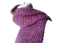 Chunky Purple Heather Knit Scarf - Smitten Kitten Originals Knits - 1