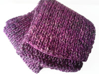 Chunky Purple Heather Knit Scarf - Smitten Kitten Originals Knits - 5