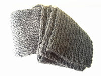 Charcoal Grey Knit Scarf - Smitten Kitten Originals Knits - 5