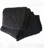 Hand Knit Basic Black Scarf - Smitten Kitten Originals Knits - 5