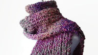 Preppy Pink & Green Ombre Soft Knit Scarf - Smitten Kitten Originals Knits - 1