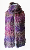 Preppy Pink & Green Ombre Soft Knit Scarf - Smitten Kitten Originals Knits - 2