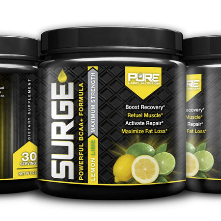 **NEW PRODUCTS!!** SURGE BCAA+ and RISE PRE-WORKOUT