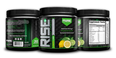 pre workout, workout energy, best pre workout, rise pre workout, pure label pre workout