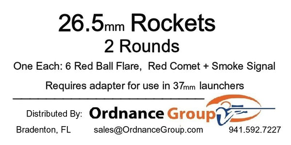 26.5mm Rockets - 2 Rounds per package