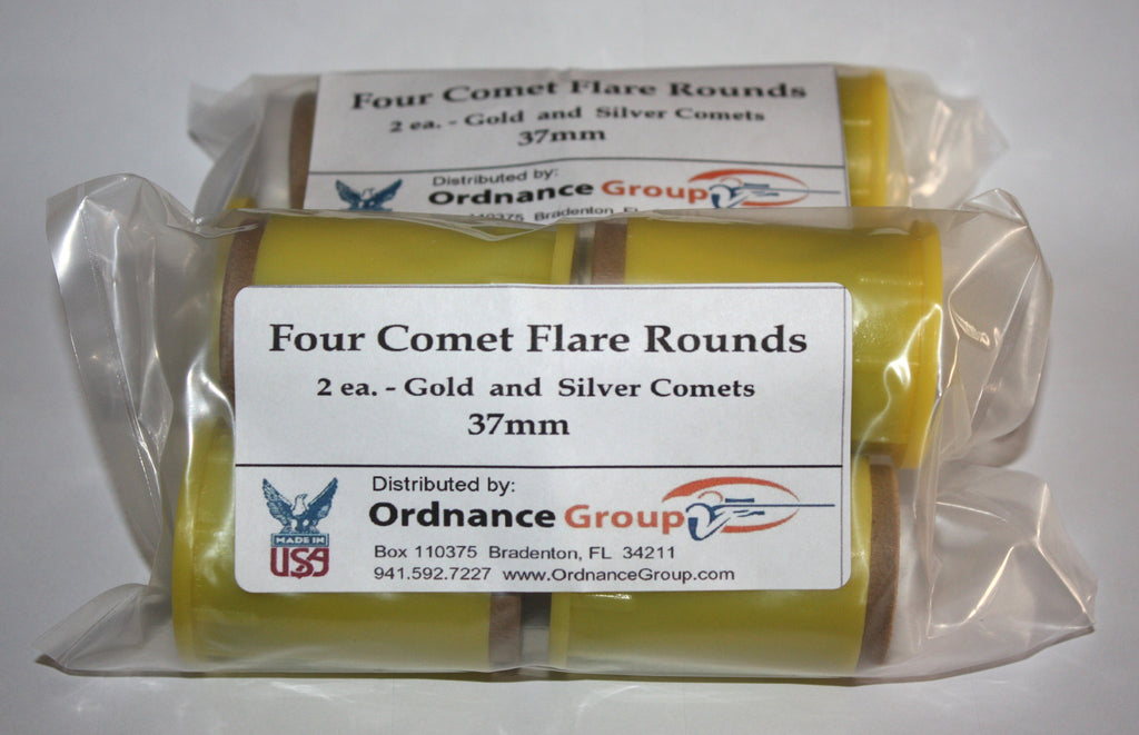 37mm Comets<br>Gold and Silver - 2 Round Pack and 10 Round Assortment