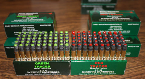.22 LR Tracers Box of 50 - Red or Green
